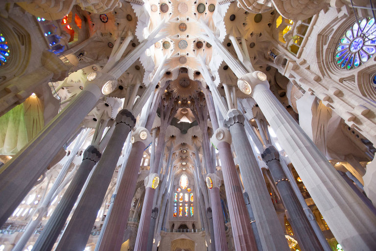 Sagrada la Familia interior captured by My Traveling Photographer in Barcelona, Spain