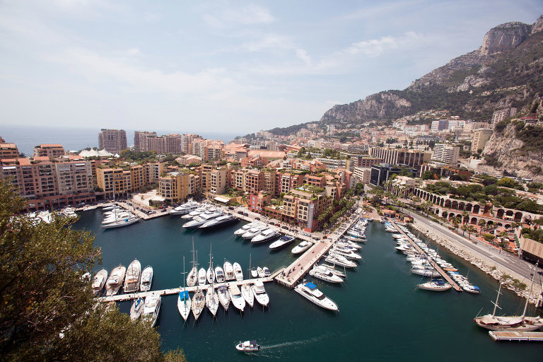 Destination photography of a harbor in Monaco